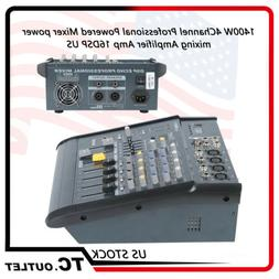 180W 4CH Professional Powered Mixer Power Mixing Amplifier A