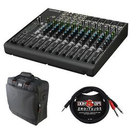 Mackie 1402VLZ4 14-Channel Compact Mixer w/ Mixer Bag and St