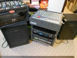 DJ Complete small  System, Mixer, Speaker, AMP,.