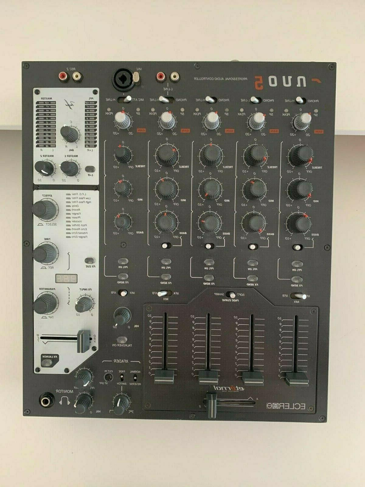 nuo5 dj mixer with onboard effects rane