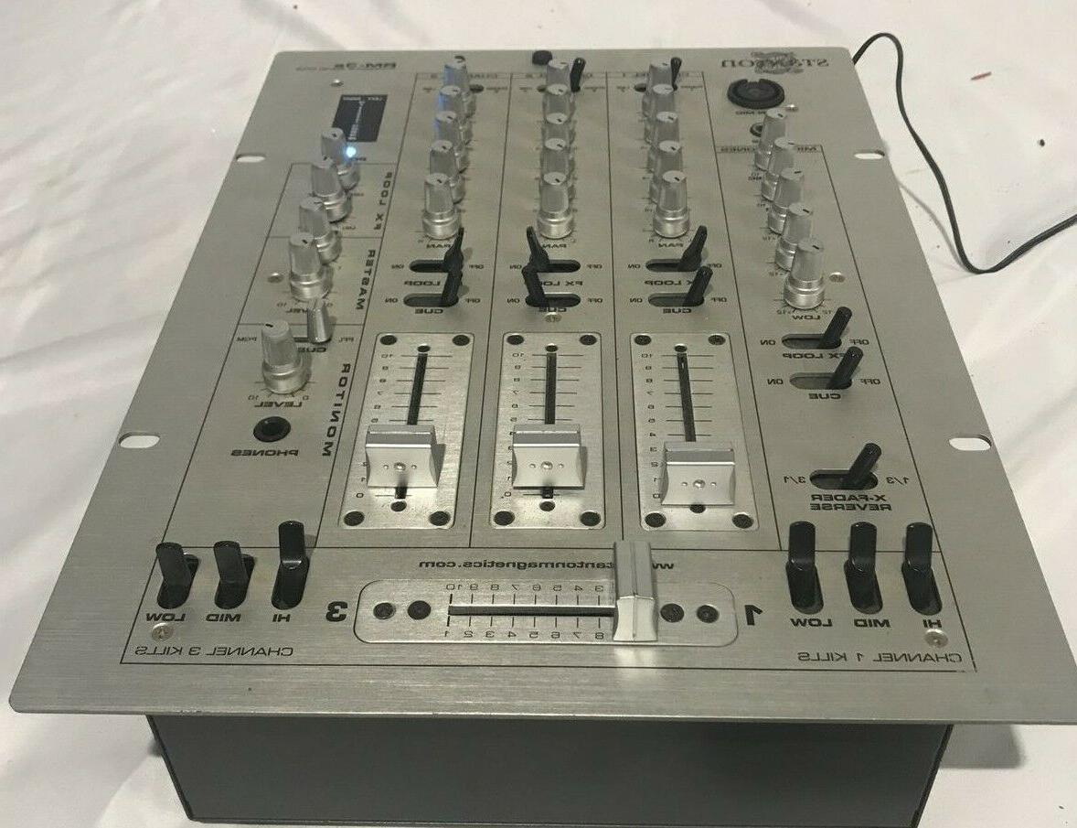 rm 3s stereo dj mixer with power