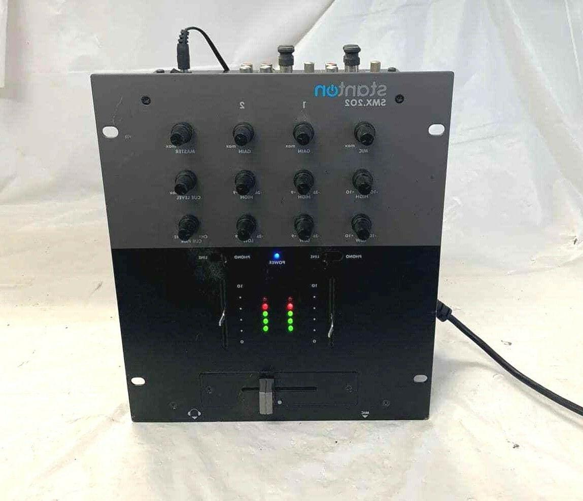smx202 2 channel dj mixer with 2