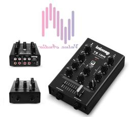 MM1BT 2-Channel Professional Analog DJ Mixer with Bluetooth